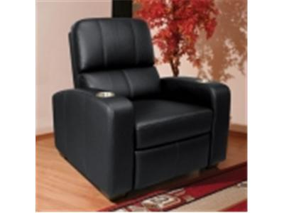 BELL`O HTS100BK Real Leather Double Arm Recliner Chair - black