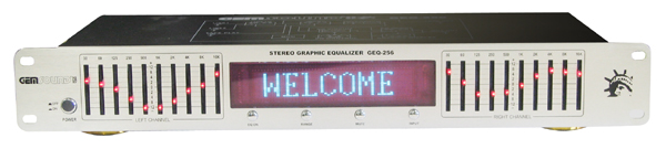 GEM SOUND GEQ256 Stereo equalizer