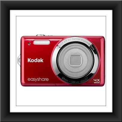 14 MP Kodak EasyShare M522 14.2 Megapixel Compact Camera - Red