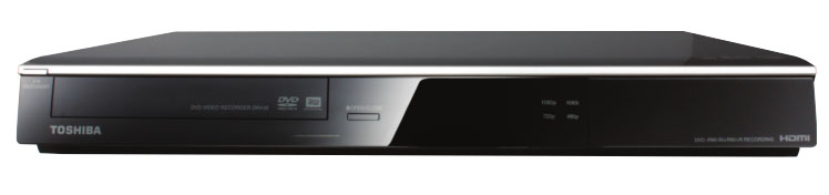 TOSHIBA (New) DR430 DVD Recorder with 1080p Upconversion
